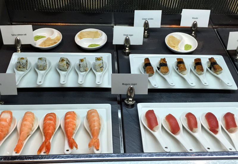 Sushi, Emirates First Class Lounge Review, Dubai