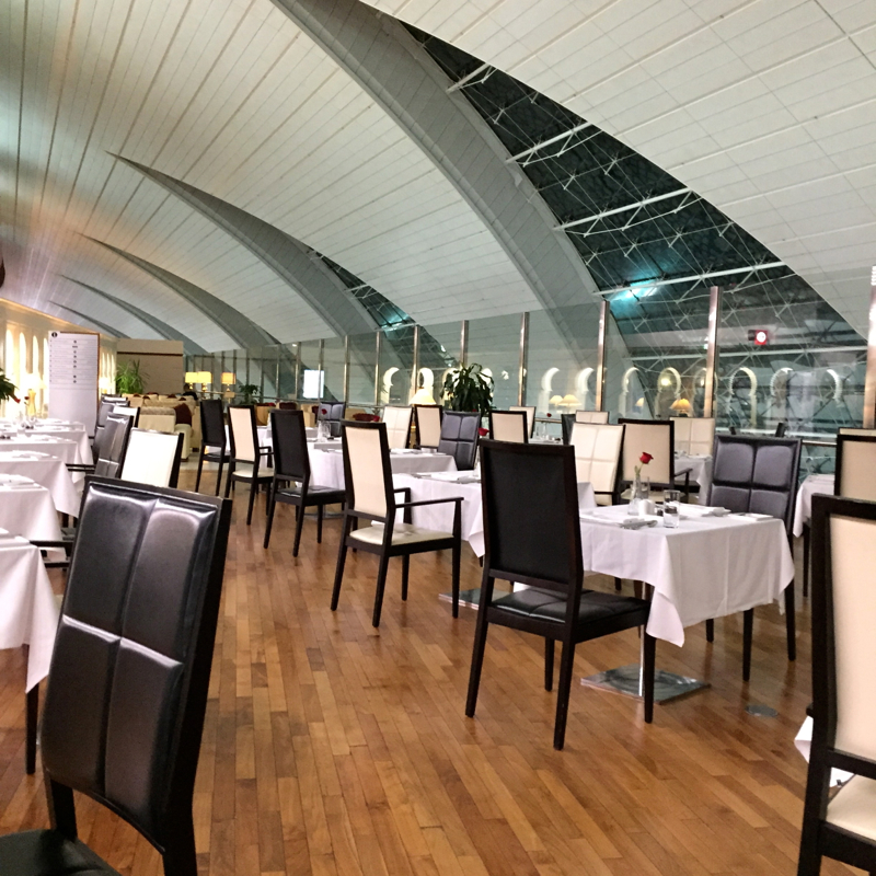 Emirates First Class Lounge Dubai Review-Dining Area