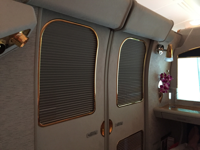 Emirates A380 First Class Closed Suite Doors