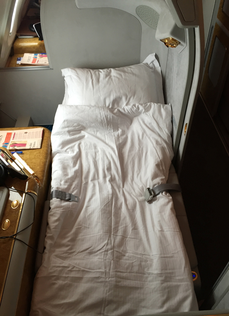 Bed After Turn Down, Emirates First Class A380