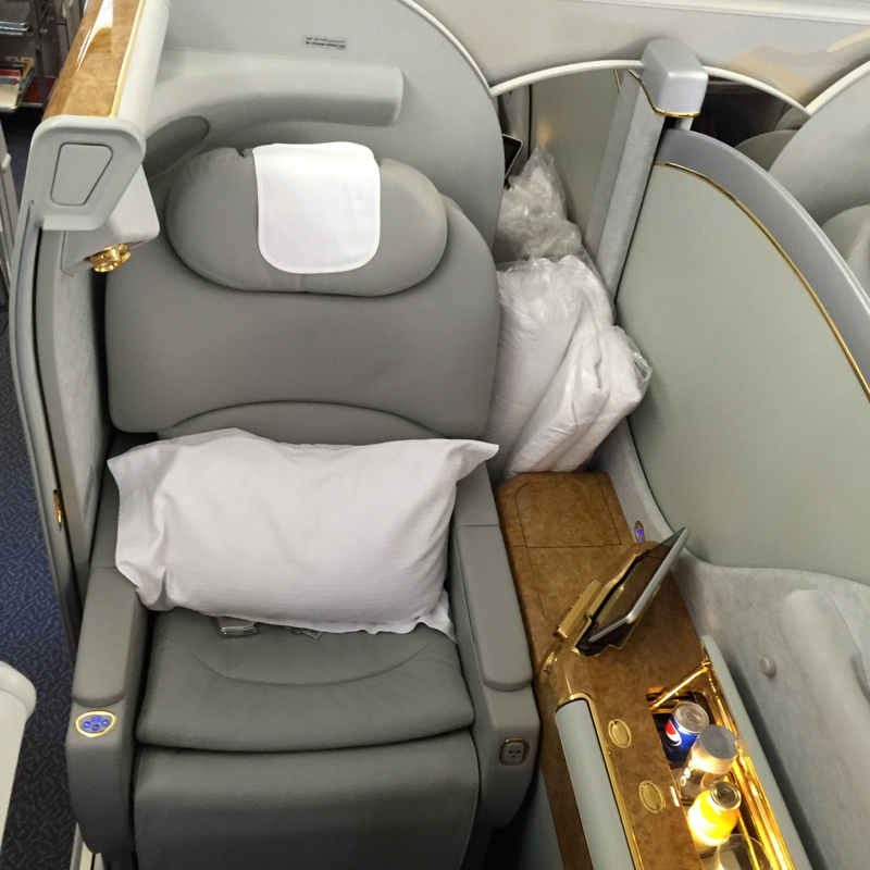 Emirates A380 First Class Review-Seat 3K