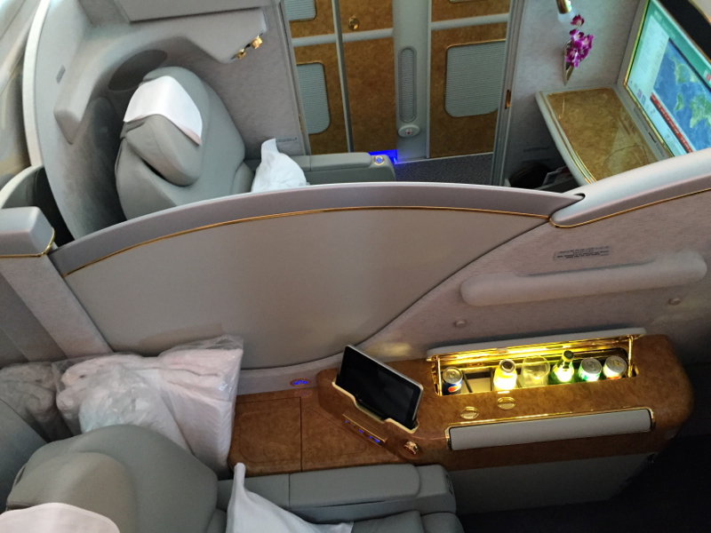Emirates A380 First Class Review-Seats 2E and 2F