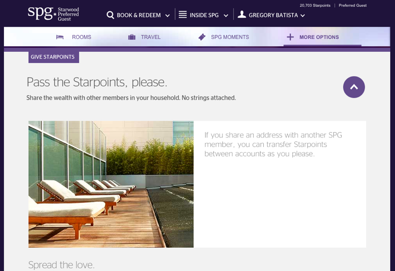 SPG: How to Transfer Starwood Points Between Accounts