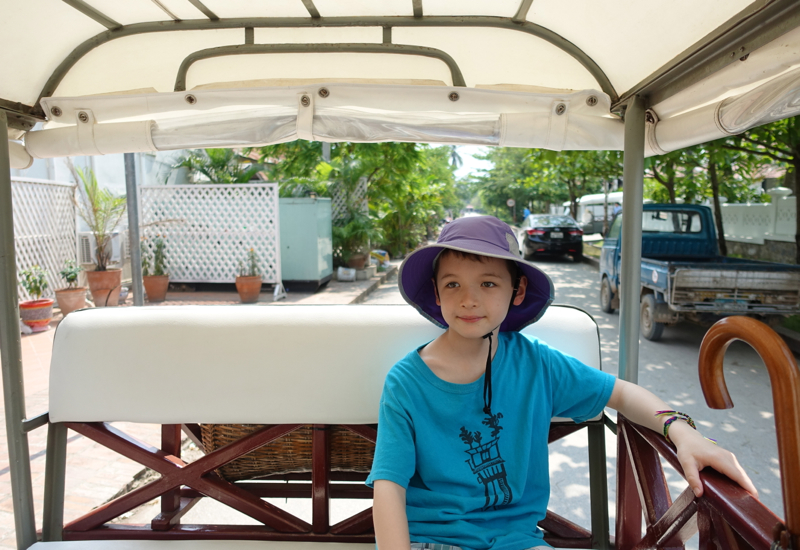 Riding an Amantaka Tuk Tuk to the Luang Prabang Temples