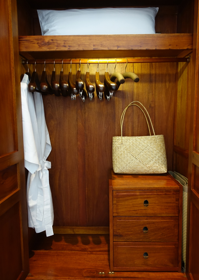Amantaka Suite Closet with Bathrobe and Basket