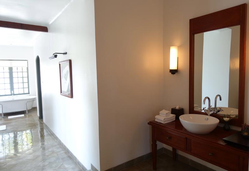 Amantaka Suite Review-Bathroom with Dual Vanities