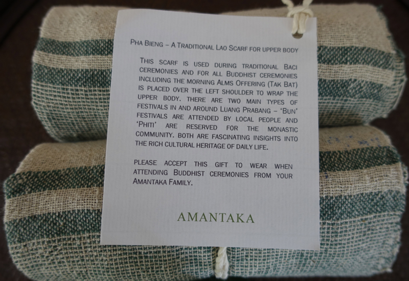 Traditional Lao Scarf Welcome Gift, Amantaka
