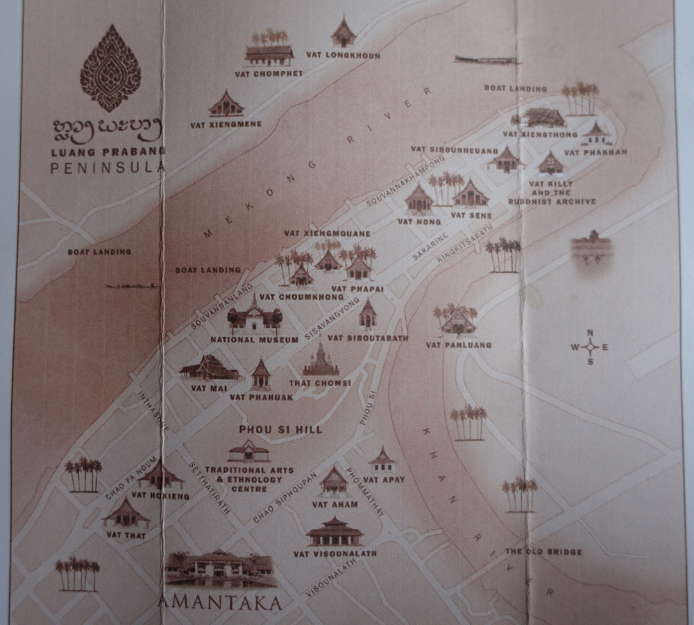 Amantaka Map of Luang Prabang, Laos