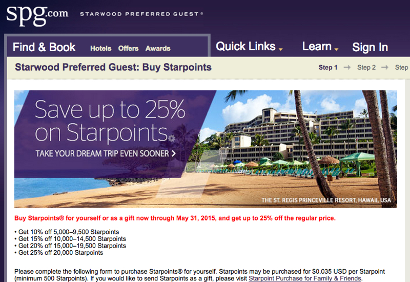 Buy Starpoints with a 25% Discount: Worth It?