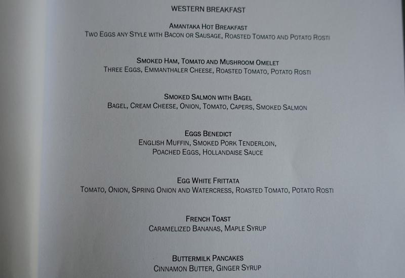 Amantaka Breakfast Menu-Western
