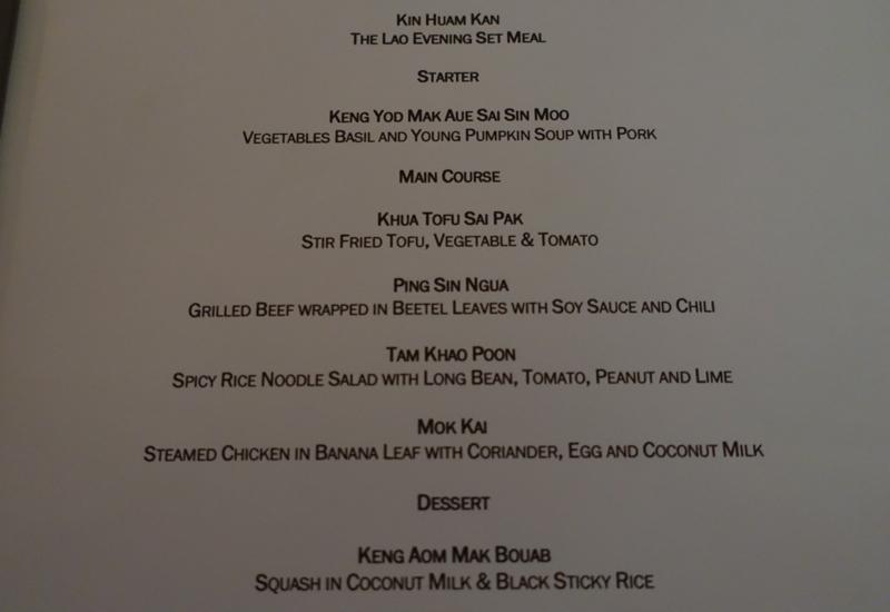 Amantaka Dinner Menu-Lao Set Menu