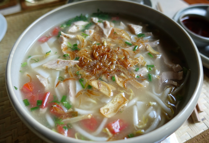 Amantaka Restaurant Review-Lao Noodle Soup for Breakfast