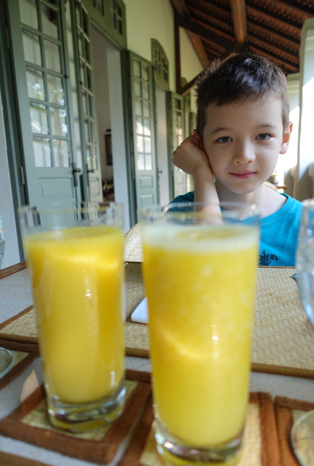 Fresh Squeezed Juices, Breakfast at Amantaka