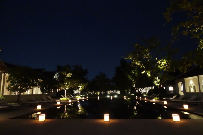 Amantaka Restaurant Review-Candlelit Dinner by the Pool
