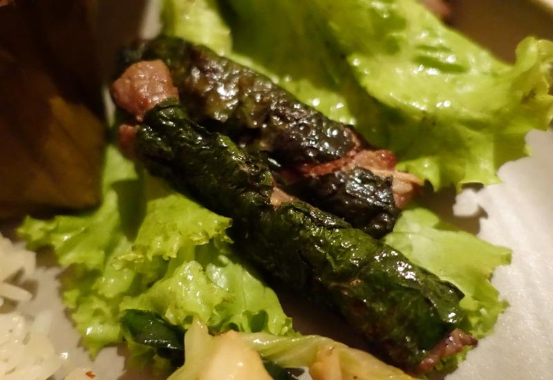 Amantaka Restaurant Review: Grilled Beef in Betel Leaves