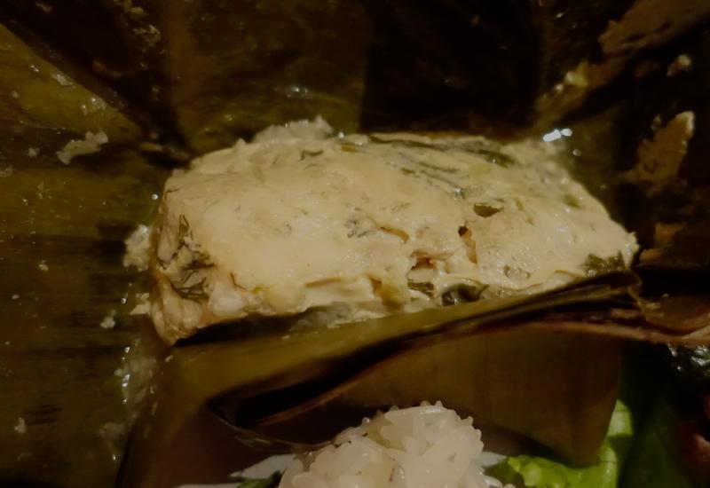 Moo Kai (Steamed Chicken in Banana Leaf)-Amantaka