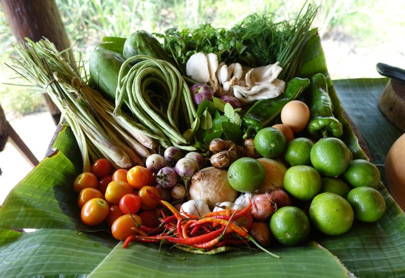Amantaka Cooking Class in Luang Prabang-Herbs and Vegetables