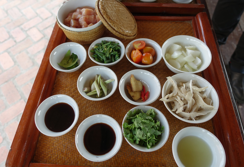 Amantaka Luang Prabang Cooking Class: Ingredients