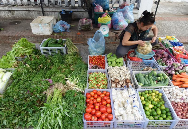 Herbs and Vegetables, Luang Prabang Morning Market