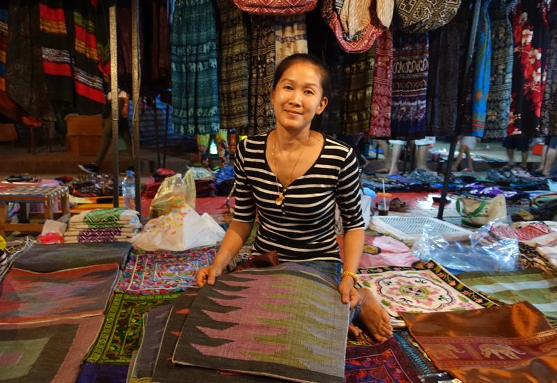Hand Woven Lao Textiles, Luang Prabang Night Market