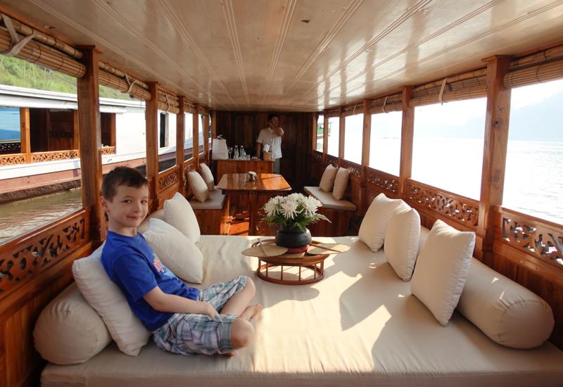 Sunset Cruise on the Mekong River in Amantaka's Boat, Luang Prabang