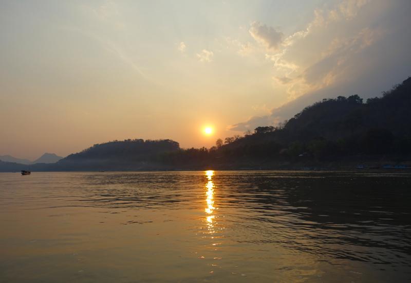 Sunset on the Mekong River, Luang Prabang