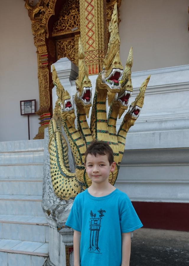 5 Nagas at Wat Nong Sikhounmuang, Luang Prabang