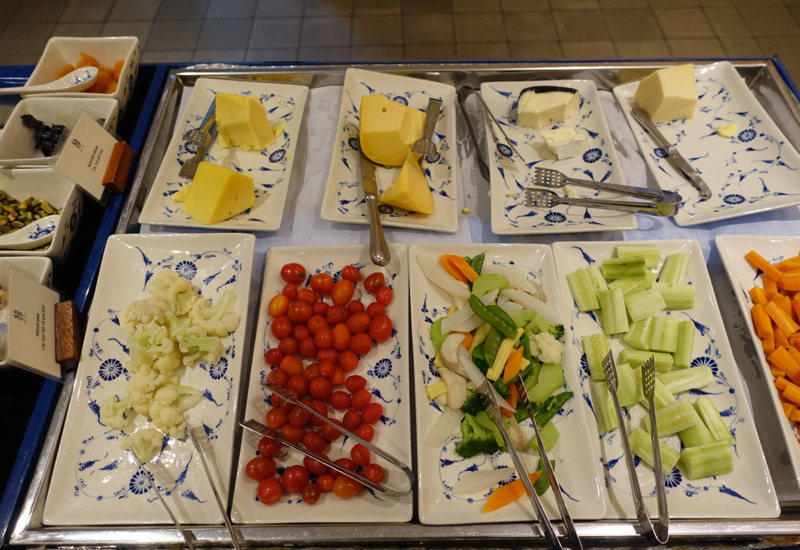Cheeses and Vegetables, Breakfast at Sofitel Metropole Hanoi