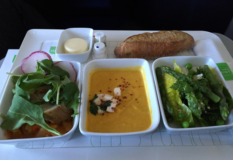 JetBlue Mint Review: Lunch on SFO-NYC Flight