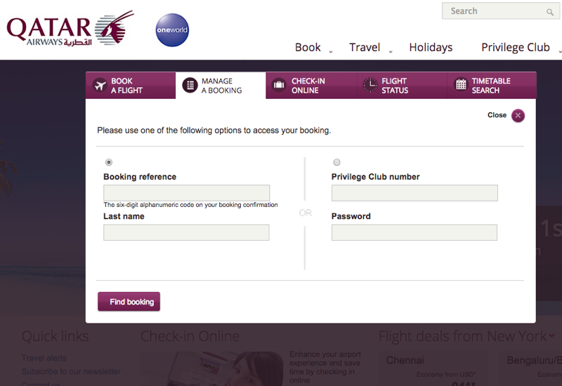 How to Select airberlin Seats Online: Go to Qatar Airways' Manage A Booking