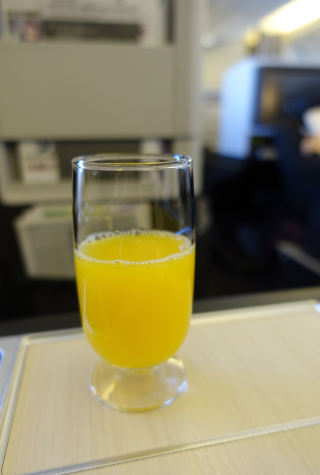 Orange Juice, JAL Business Class 767-300ER Review