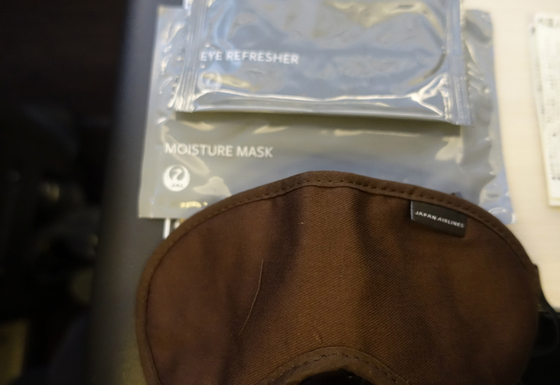 Sleep Mask and Amenities, JAL Business Class 767-300ER Review