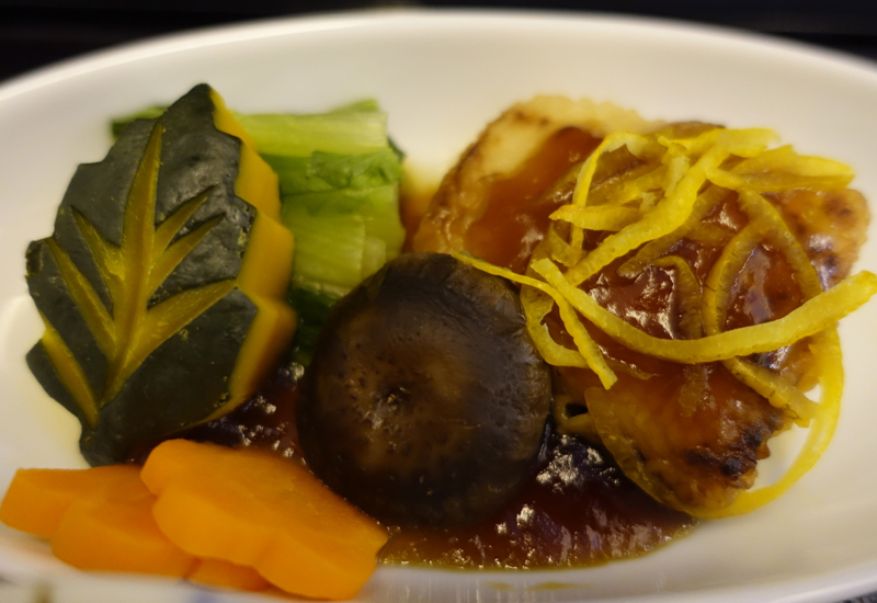 Grilled Snapper with Yuzu, JAL Business Class 767-300ER Review