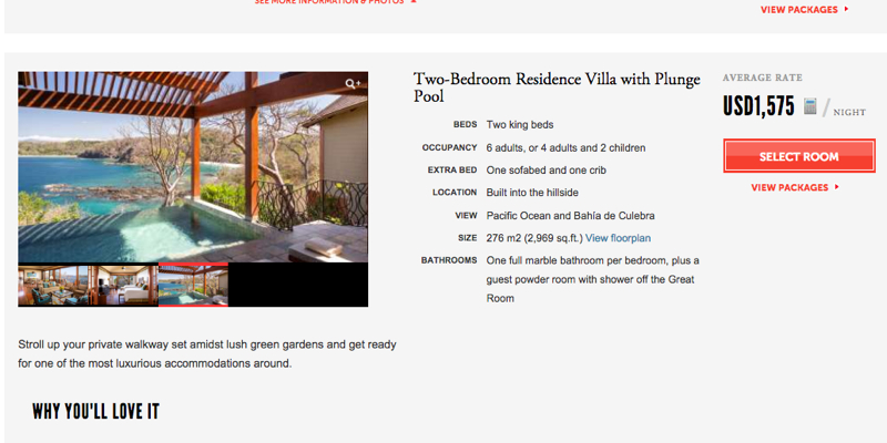 Four Seasons Residence Villa Rentals-Four Seasons Costa Rica 2 BR Residence with Plunge Pool