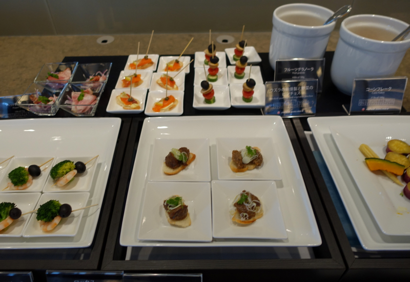 Review-JAL First Class Lounge Tokyo Narita-Appetizers
