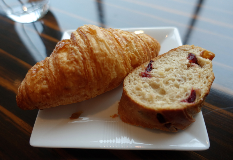 Croissant and Maison Kayser Bread, JAL First Class Lounge Tokyo Narita