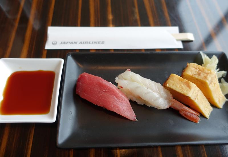 Review-JAL First Class Lounge Tokyo Narita-Sushi