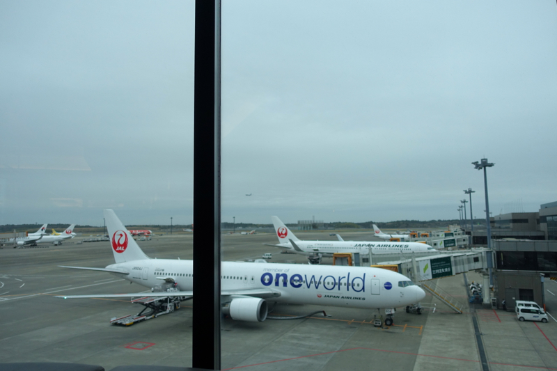 Review-JAL First Class Lounge Tokyo Narita-View of Planes on Tarmac