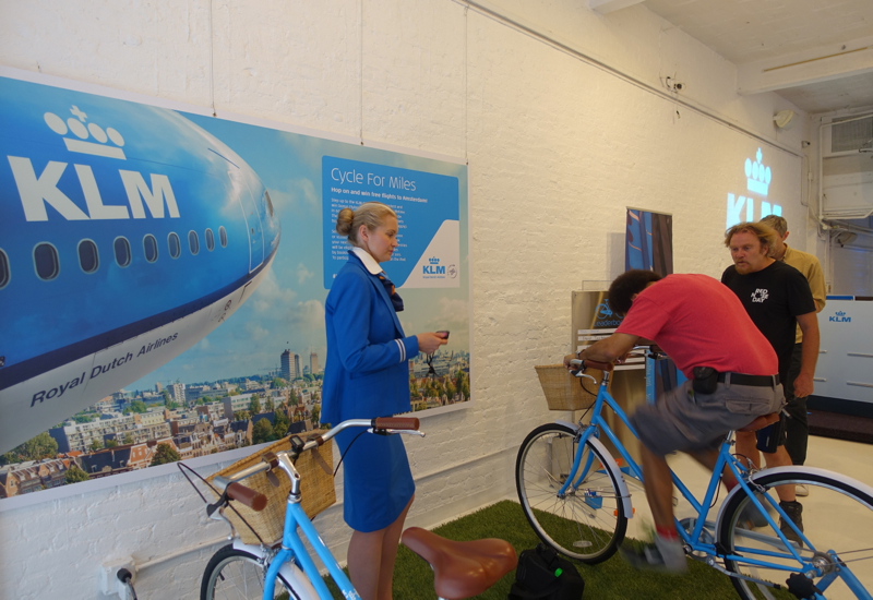 Cycle for Miles, KLM Pop Up Store, NYC