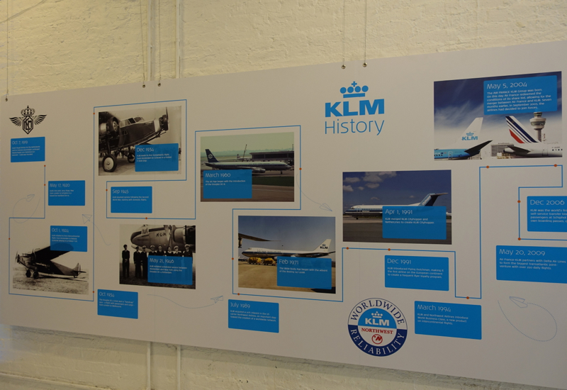 KLM Timeline, KLM Pop Up Store, NYC