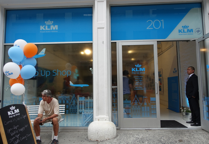 KLM Pop Up Store in NYC and KLM New Business Class Seats