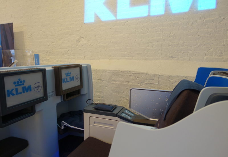KLM New Business Class Seats-IFE Screens