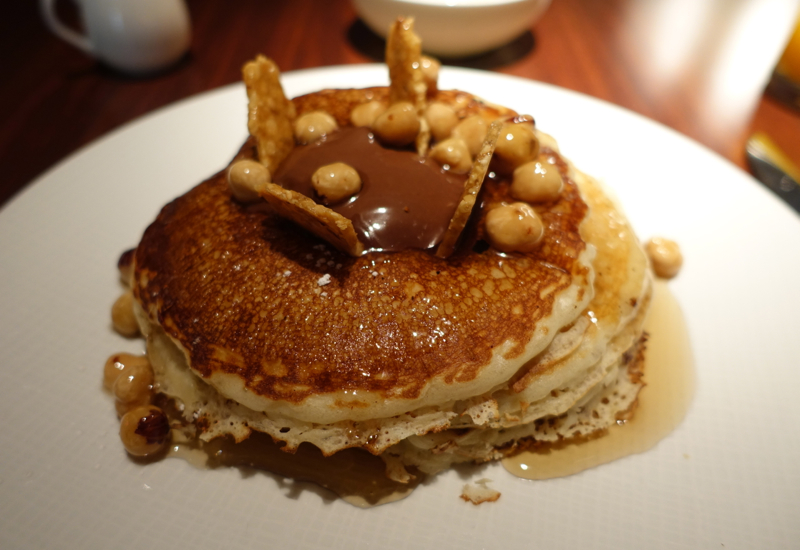 Nutella Hotcakes with Praline and Hazelnut Maple Syrup, Allium Review, Four Seasons Chicago