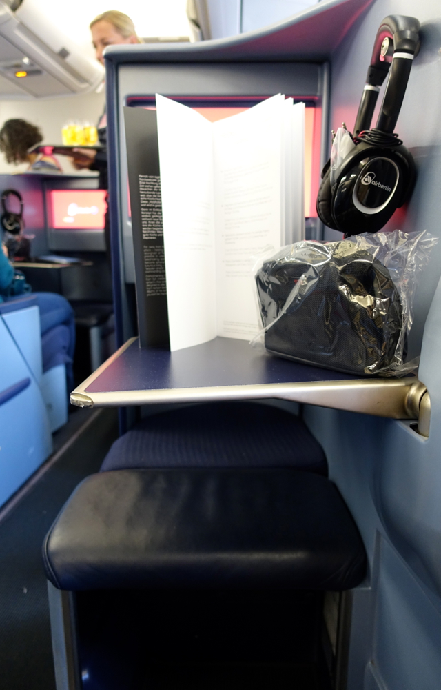 Review-Air Berlin A330 Business Class-Tray Table and Ottoman