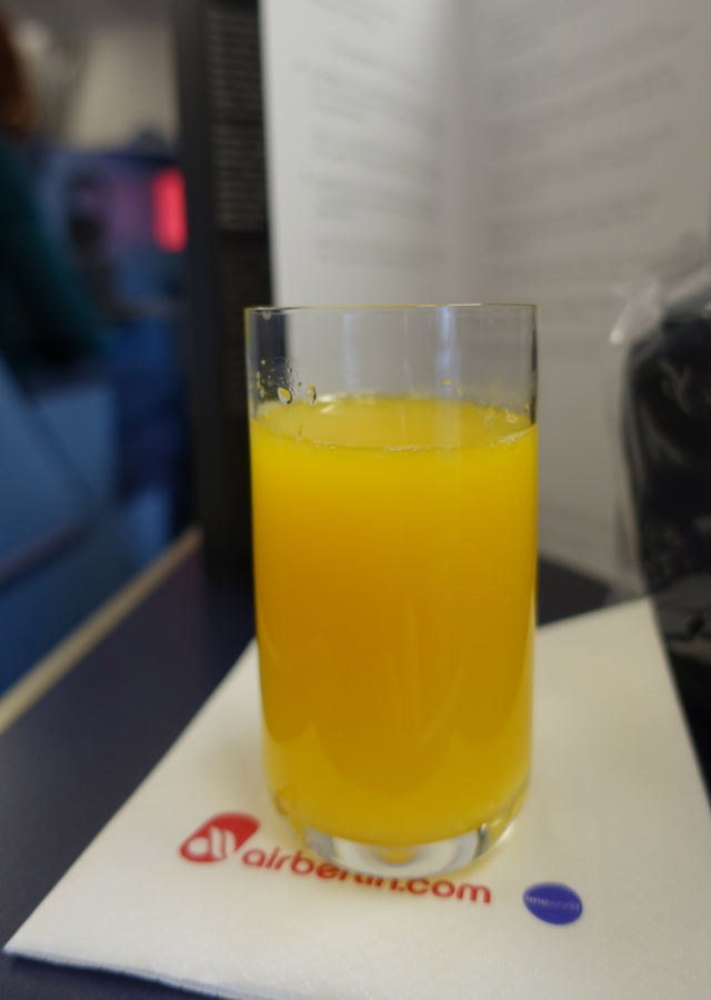 Air Berlin Business Class Review-Pre-Flight Drink