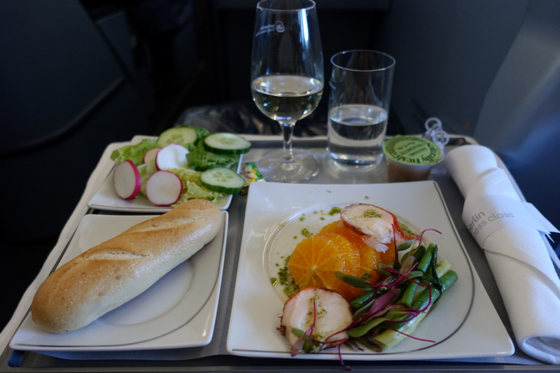 Review-Air Berlin Business Class A330-Dinner