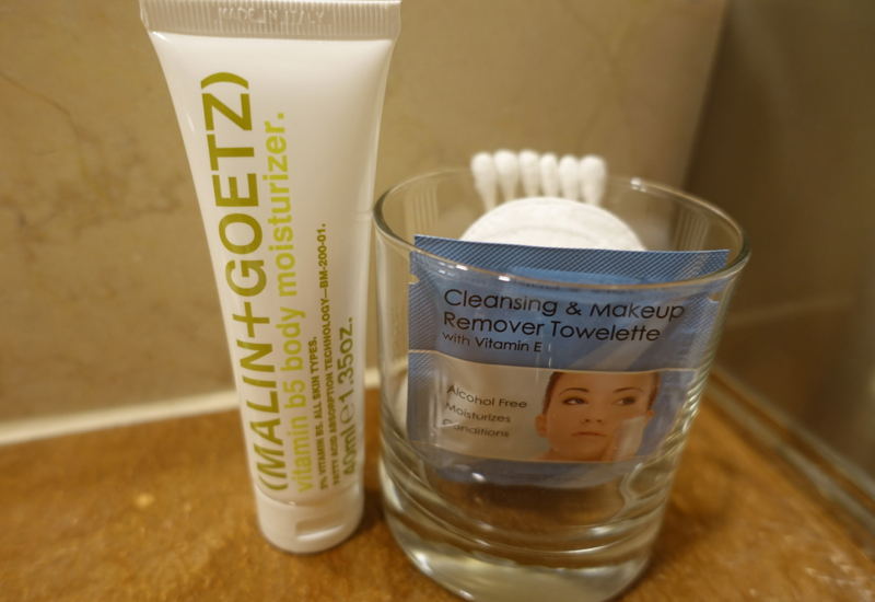 Review-Four Seasons Chicago-Makeup Remover and Malin+Goetz Moisturizer