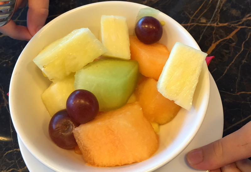 Fruit Salad, Virgin Atlantic Clubhouse NYC JFK Review