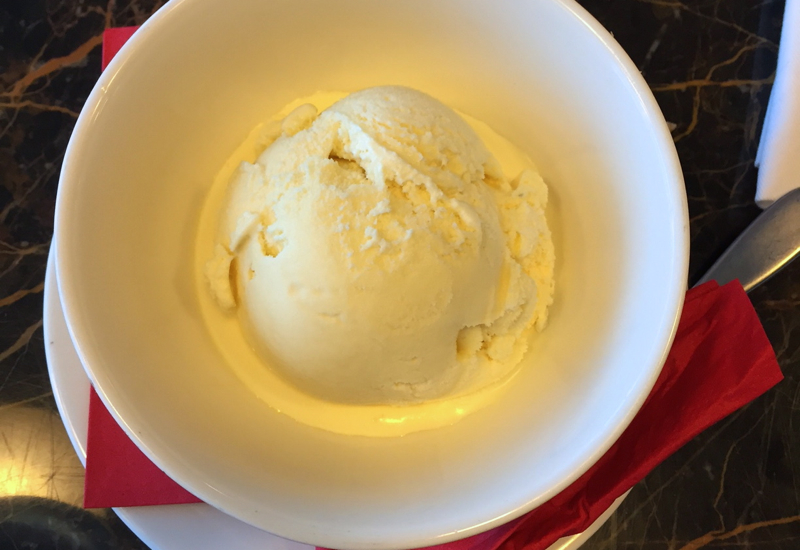 Vanilla Ice Cream, Virgin Atlantic Clubhouse NYC JFK Lounge Review