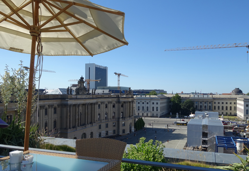 View of Bebelplatz from Hotel de Rome's Rooftop Terrace